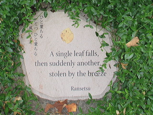 Haiku by Ransetsu